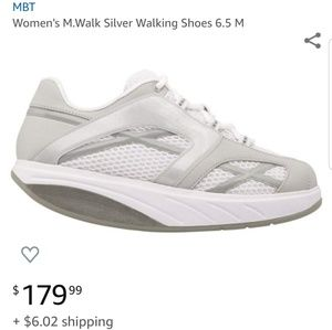 MBT M Walker Silver Walking Shoes